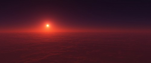 terragen above clouds