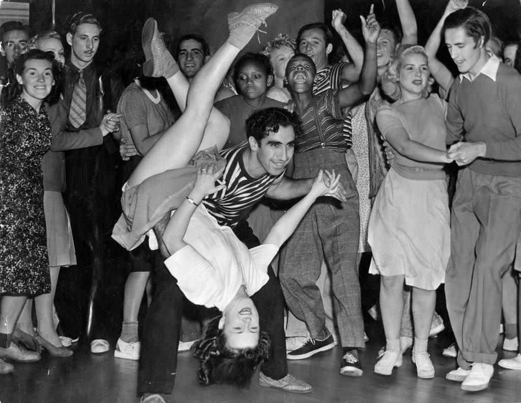 Couple Swing Dancing, ca. 1940s
