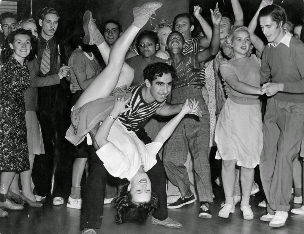 Couple Swing Dancing, ca. 1940s